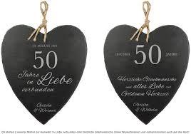geschenke zum 50 hochzeitstag schieferherz zur goldenen hochzeit mit wunschnamen und datum