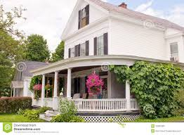 House Wrap Around Porch New England House Porch Royalty Free Stock Images Image 15387989