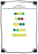 shape pattern year 2 year 2 2d shape shape pattern and sequence worksheets