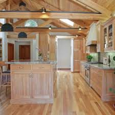 Red Birch Kitchen Cabinets Decorating Granite Countertop On Kitchen Island And Oak Cabinets