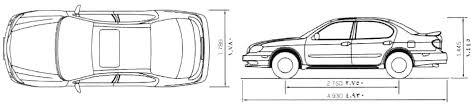 white nissan maxima 2000 car blueprints 2000 nissan maxima a33 sedan blueprint