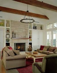 Fireplace Side Cabinets by Fireplace Bookshelves Vaulted Ceiling Awesome Design Family Room A