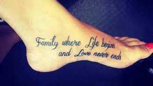 saying family where begins and never
