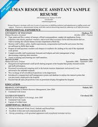 Hr Description For Resume Human Resources Assistant Resume Hr Example Sample Employment Free