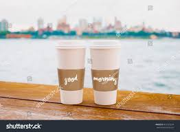 two coffee cups new york city stock photo 412129534 shutterstock