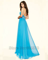 online shop style 98112 azure bright pink long yellow prom dress