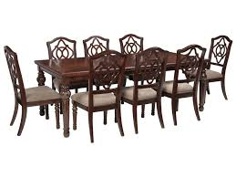 ashley dining room furniture signature design by ashley leahlyn 9 piece rectangular dining