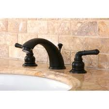 cross handle rubbed bronze widespread bathroom faucet free