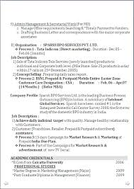 Sample Resume For Freshers Mba Finance And Marketing by Resume Sample For Mba Marketing U0026 Pgd Finance With 6 Years