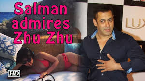 salman admires beautiful star zhu zhu