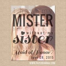 will you be my of honor gift of honor gift of honor mister