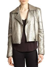 cheap moto jacket j brand aiah metallic leather moto jacket in gray lyst