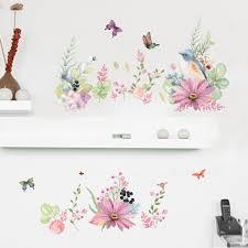 Bedroom Wallpaper Borders Online Get Cheap Flower Wall Border Aliexpress Com Alibaba Group
