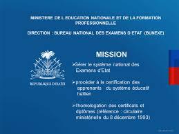 8 bureau des diplomes direction bureau national des examens d etat bunexe ppt
