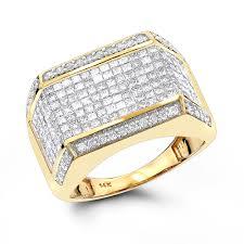mens engagement rings diamond rings 14k round princess diamond ring 2 25