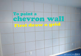 how to paint a chevron wall draw horizontal lines to paint a chevron wall first draw a grid