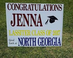 graduation signs graduation yard sign etsy