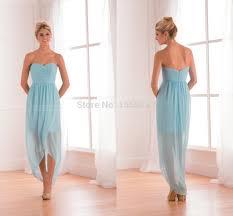 aliexpress com buy sky blue beach sweetheart zipper back hi lo