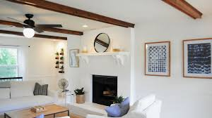 Ceiling Fan In Living Room by Virginia Beach Living Room Gets Rustic Coastal Huntervention