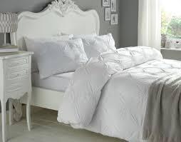 rosette duvet cover by barbara barry elissa white ruched rosette