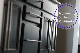 Organize Bathroom Cabinet by Organize Bathroom Cabinets I Dream Of Clean Organized Simple