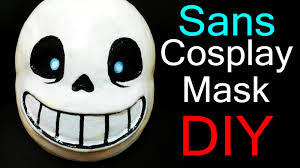 halloween paper mache masks undertale cosplay sans mask tutorial by delucat迪鹿 youtube