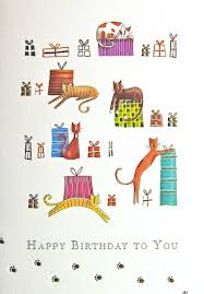cat cards and stationery colourful cats gifts birthday card