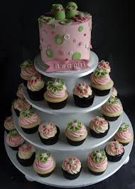 cupcake tower for baby shower ideas tiny princess baby shower