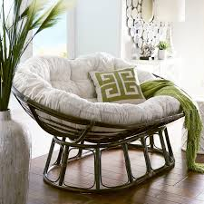 papasan double taupe chair frame brown cushions taupe and