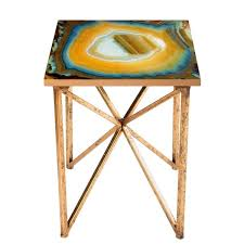 faux agate side table faux agate side table free shipping today overstock com 19552624