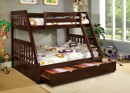 Canberra Espresso Or Oak Finish Mission Style TwinFull Bunk Bed - Espresso bunk bed