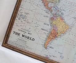 World Map Framed Wall Decor Large Magnet Board Magnetic Board Dry Erase