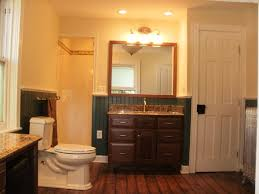 Laminate Flooring Bathrooms Wooden Laminate Flooring Modern Home Bathroom Design Idea With
