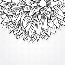 black sketch peony flower vector clipart image 24591 u2013 rfclipart