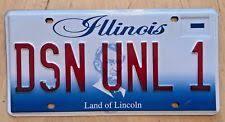 Il Vanity Plates Illinois Vanity Plate Ebay