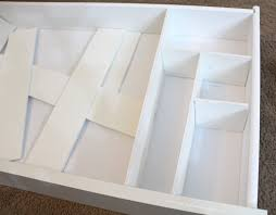 diy custom drawer dividers getglammedup place the dividers your drawer test them out and make sure everything how you want look above picture pieces right