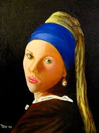 painting girl with a pearl earring with the pearl earring painting by tony hitch