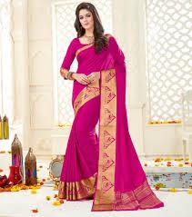 rani pink colour yellowfashion in u2014 rani pink color art silk designer party wear