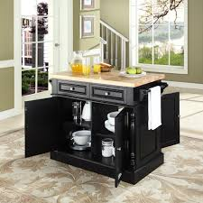 Black Kitchen Island With Butcher Block Top Furniture Home Goods Appliances Athletic Gear Fitness Toys