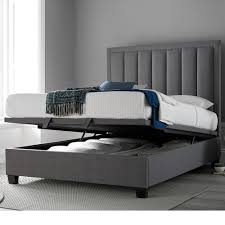 Grey Fabric Ottoman Bed Ottoman Storage Beds Happy Beds