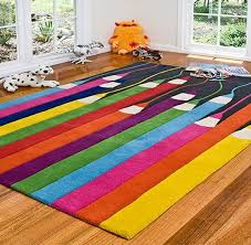 Playroom Area Rug Playroom Rugs Large Eccentric Rug In Blue And Purple