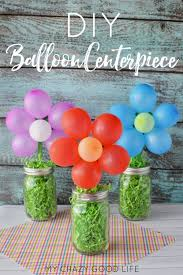 Balloons On Sticks Centerpiece by Diy Balloon Centerpiece My Crazy Good Life