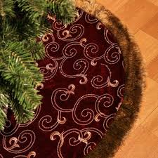 gold tree skirt luxury collection burgundy and gold christmas tree skirt christmas