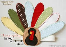 thanksgiving turkey headband tutorial eat pray create