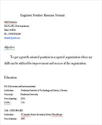 resume format for freshers engineers cse federal credit 23 modern fresher resume templates free premium templates