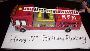 coolest homemade fire trucks and firefighter theme cakes