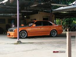 kereta bmw the orange e34 share my ride gk049 galeri kereta