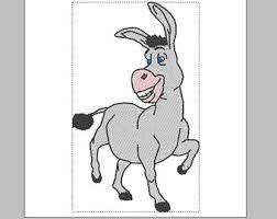 donkey embroidery etsy