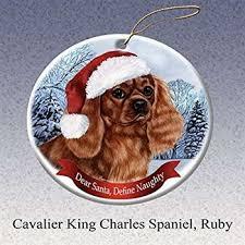 world king charles spaniel glass