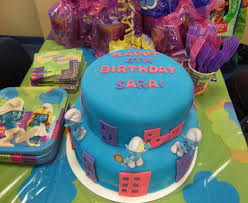 smurf cake lucy j productions